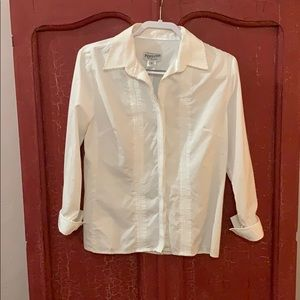 PENDLETON BUTTON DOWN SHIRT WHITE WITH LONG SLEEVE